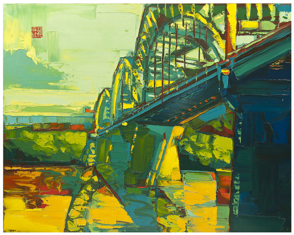 Giclee on paper - Sunrise at Broadway - 24x30 - Modern Landscape
