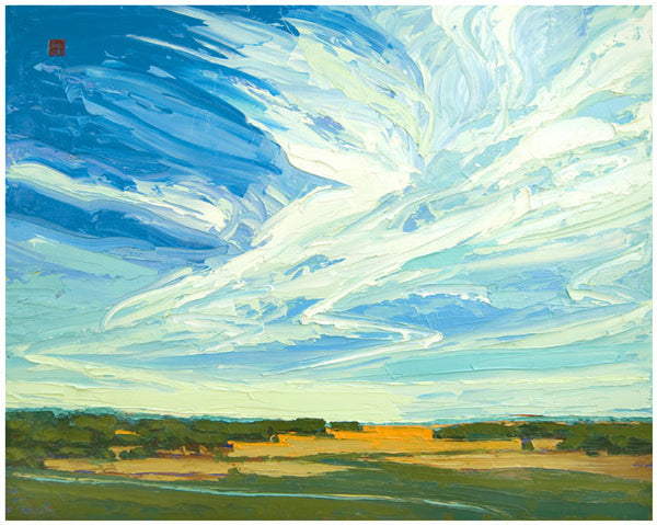 Giclee on paper - Symphony in the Sky - 24x30 - Modern Landscape