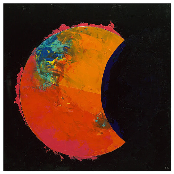 Giclee on canvas - Total Shift - Solar Eclipse - 24x24in - Modern Landscape