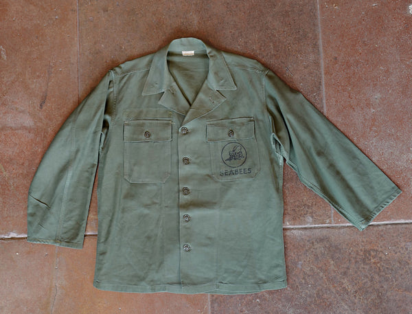 Vintage Seebees Military Overshirt - Size Medium