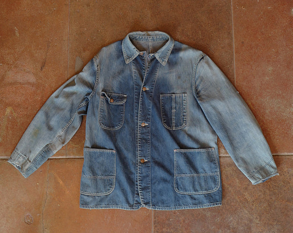 Vintage Denim Chore Coat - Large/X-Large
