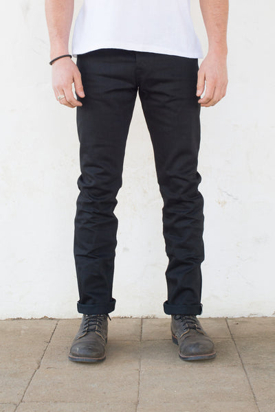 FREENOTE - RIOS  SLIM  STRAIGH  - BLACK  13.5 oz  JAPANESE DENIM