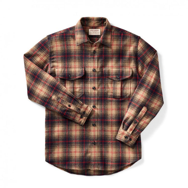 Filson - Northwest Wool Shirt Navy/Tan/Red Plaid
