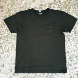 "LADY WHITE Co. ""CLARK"" POCKET TEE   - FADED BLACK (GREEN BLACK)"