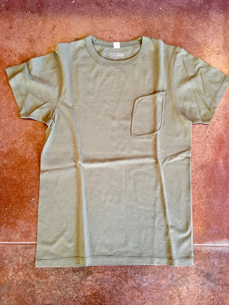 "LADY WHITE Co. ""CLARK"" POCKET TEE - OD GREEN"