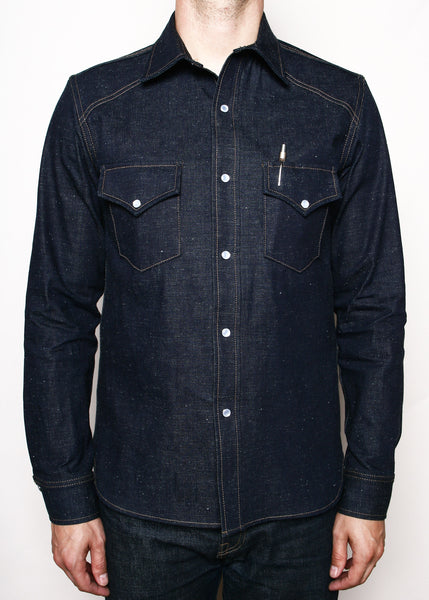 RGT WESTERN SHIRT-NEPPY DENIM