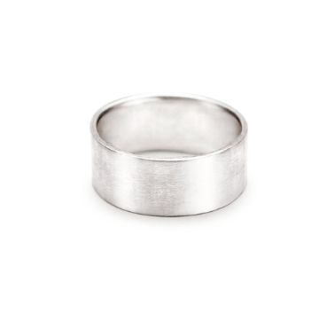 HEAVY BRUSHED SILVER BAND RING