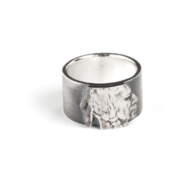 Silver Piston - Indian Head Nickel Ring