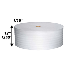 "1/16"" x 12"" x 1250' Poly Foam Rolls (Protective Packaging)"