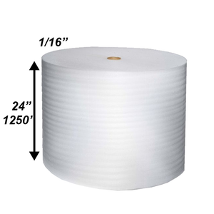 "1/16"" x 24"" x 1250' Poly Foam Rolls (Protective Packaging)"