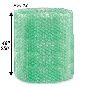"1/2"" Green Bubble Roll, 48'' x 250' - PERF 12"""