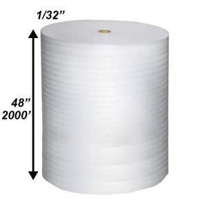 "1/32"" x 48'' x 2000' Poly Foam Rolls (Protective Packaging)"