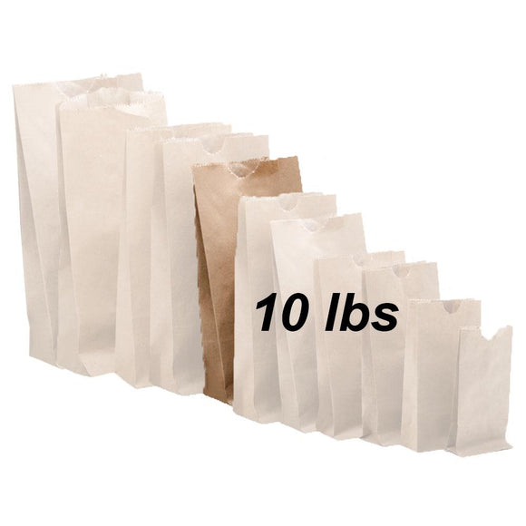 10 lbs Brown Paper Bags 500/bundle