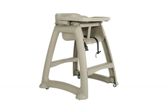 Globe High Chair With Wheels And Tray