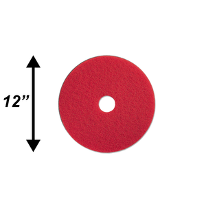 "PPC 12"" Red Buffing Pad EA"