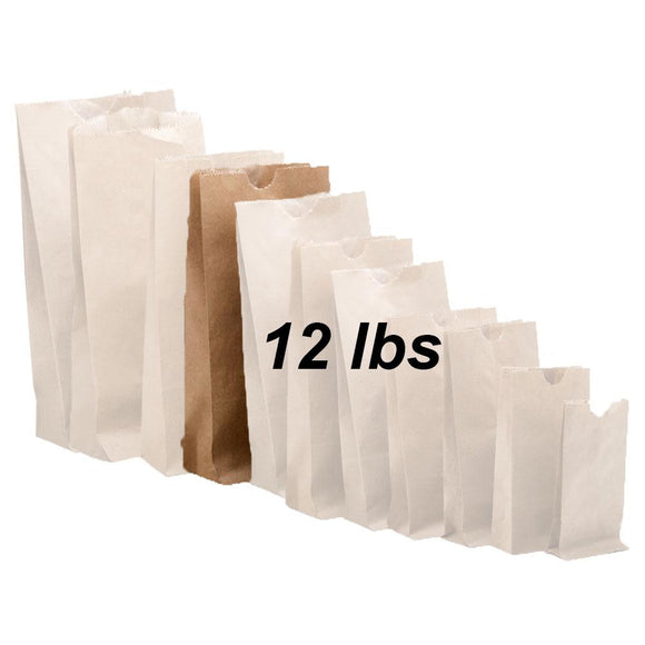 12 lbs Brown Paper Bags 500/bundle