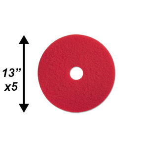 "PPC 13"" Red Buffing Pad 5/CS"