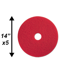 "PPC 14"" Red Buffing Pad 5/CS"