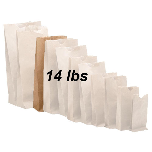 14 lbs Brown Paper Bags 500/bundle