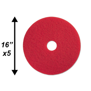 "PPC 16"" Red Buffing Pad 5/CS"
