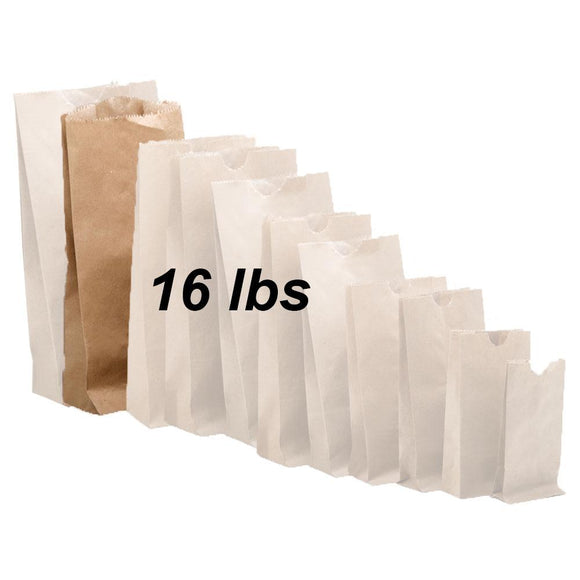 16 lbs Brown Paper Bags 500/bundle