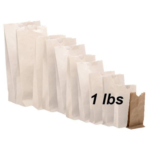 1 lbs Brown Paper Bags 500/bundle