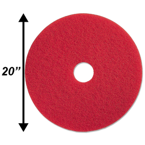 "PPC 20"" Red Buffing Pad EA"