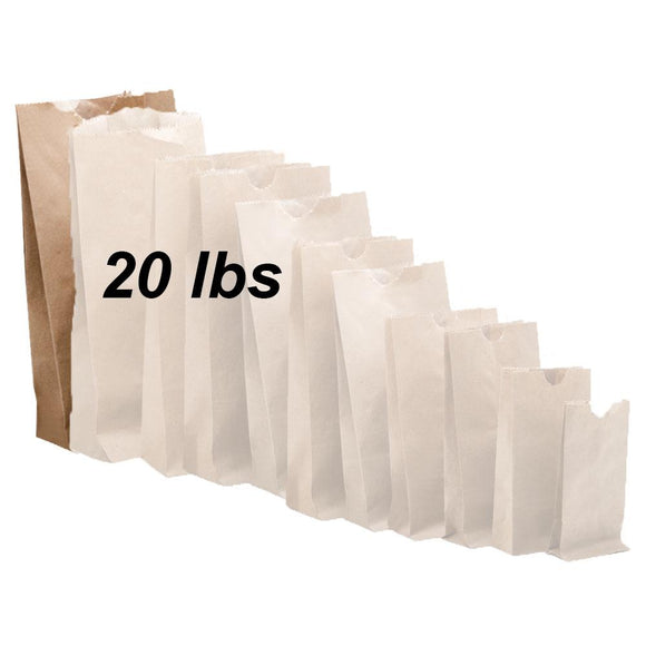 20 lbs Brown Paper Bags 500/bundle