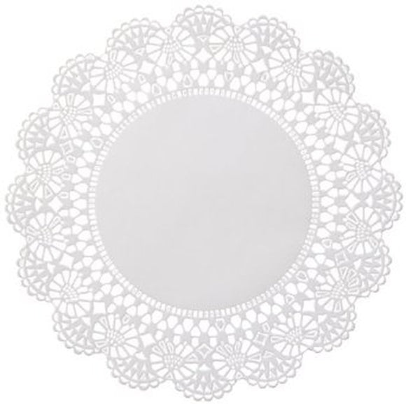 Touch® 4'' Paper Doilies Round Scallop Edge 1000/CS
