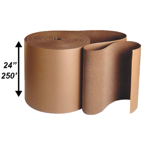 "24"" x 250' Single Face Corrugated Rolls"