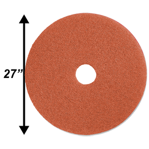 "PPC 27"" Peach Burnishing pad EA"