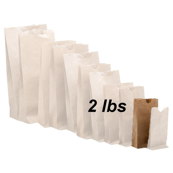 2 lbs Brown Paper Bags 500/bundle