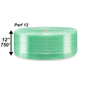 "3/16"" Green Bubble Roll, 12"" x 750' - PERF 12"""