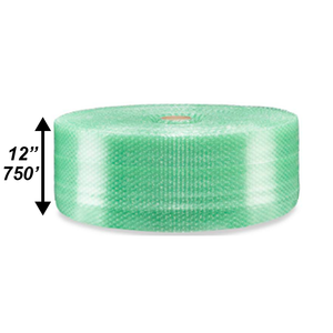 "3/16"" Green Bubble Roll, 12"" x 750'"