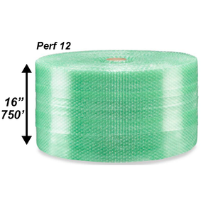 "3/16"" Green Bubble Roll, 16"" x 750' - PERF 12"""