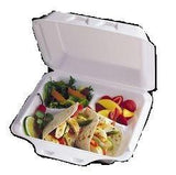 Pactiv® 8 x 8 Three Compartments Large Foam Containers 150/CS