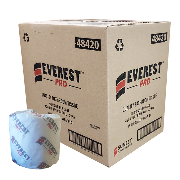 Everest PRO™ Standard Toilet Paper, 2 ply, 48x420 Sheets (48420)