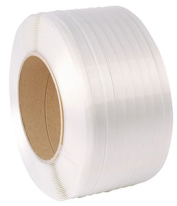 1/2'' x 9,900' x 275lb x 8''Core White Strapping