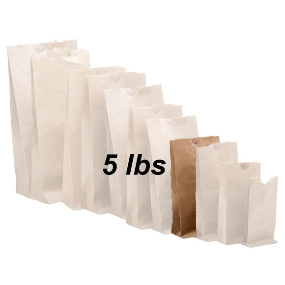 5 lbs Brown Paper Bags 500/bundle