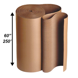 "60"" x 250' Single Face Corrugated Rolls"