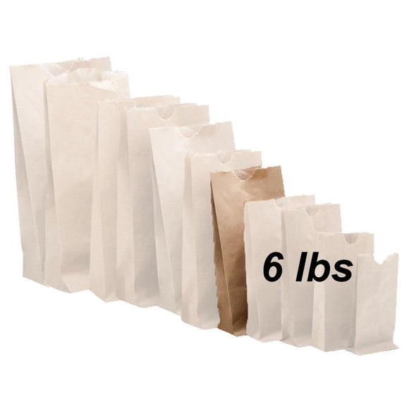 6 lbs Brown Paper Bags 500/bundle