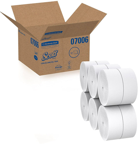 KC Coreless JRT  Bathroom Tissue 3.78″ x 1150′ 12 Rolls/CS (07006)