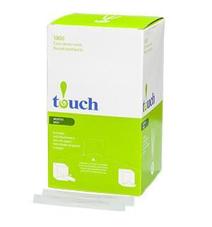 Touch® Mint Wrapped Toothpicks 12 x 1000/CS