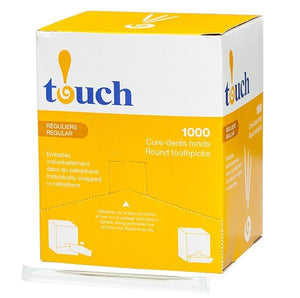 Touch® Cellophane Wrapped Toothpick 12 x 1000/CS