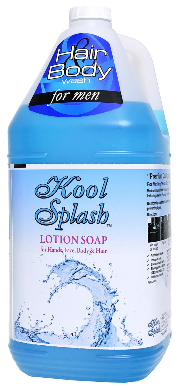 Kool Splash Hair & Body Wash (Blue) 4x4L