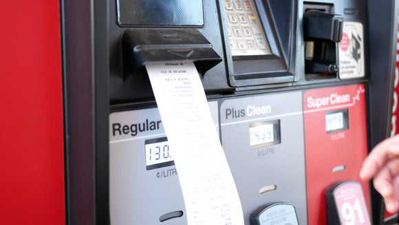 Thermal Paper Roll for Gas Station Pump 2-1/4