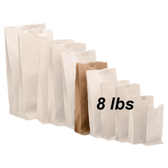 8 lbs Brown Paper Bags 500/bundle