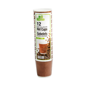 Café Express 4oz Wave Ripple Cup 12/PK x 24/CS