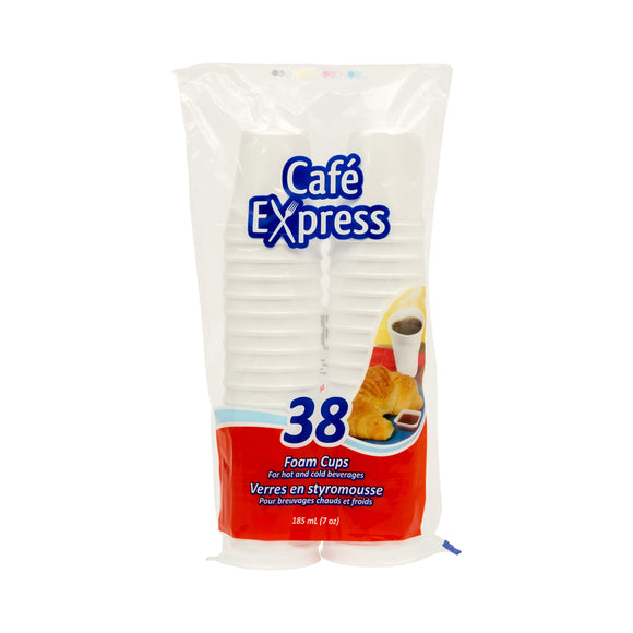 Café Express 7oz Foam Cups 38/PK x 24/CS