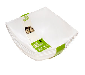 Café Express 8oz  Square Bowls White 4/PK